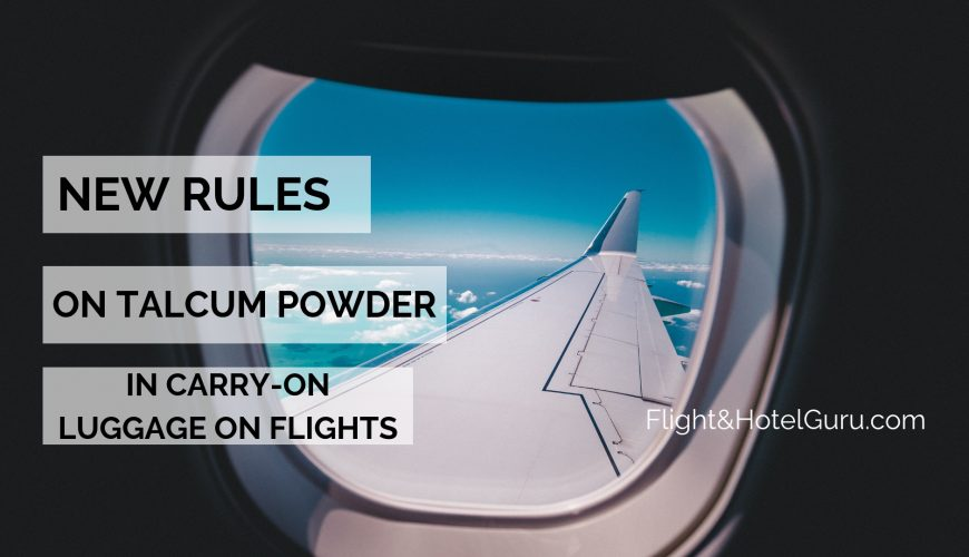 new rules on talcum powder in carry-on